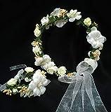ZQZSDT Corona, Estilo Coreano Manual de la Perla Diadema Blanco Juan Hilado Novia Chica Casarse Accesorios Vestido de Novia Vestido de Accesorios