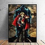 agwKE2 Decoración del hogar Cartel Abstracto nórdico Cartel de Anime Alchemist Brothers Arte de la Pared Pintura en Lienzo Arte Impreso Póster artístico para Sala de Estar / 50x75cm (sin Marco)