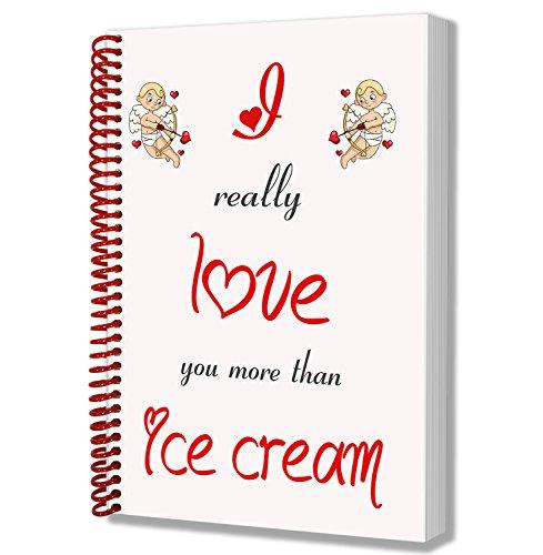 I love Eis Mottoparty Notizblock–Valentinstag/Jahrestag/Geburtstag Geschenk für