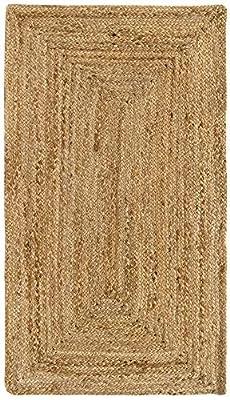 100% FIBRA NATURAL. Las alfombras de yute son biodegradables. Están tejidas con material vegetal natural. ELABORADAS A MANO. Diseño trenzado, muy fino. Alfombra duradera y fácil de cuidar. RESISTENCIA ALTA. Son adecuadas para uso en interiores, con u...