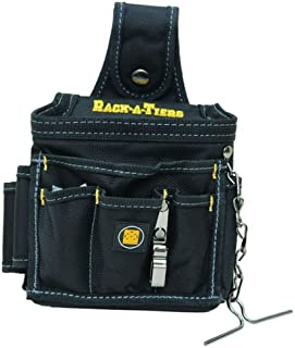 Rack-A-Tiers 43095 Ballistic Nylon Butt Pouch Grande Pocket Tool Holder Black