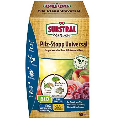 Substral Pilz-Stopp Universal, Fungizid gegen verschiedene Pilzkrankheiten an Gemüse, Obst, Wein und Zierpflanzen, 50ml Konzentrat