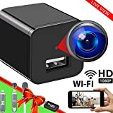 Spy Camera Wireless Hidden WiFi Camera with Remote View - HD 1080P - Spy Camera Charger - Spy Camera Wireless - USB Hidden Camera - Nanny Camera - Premium Security Camera - Hidden Cam - iOS Android