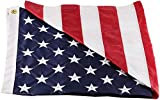 Wilbork American Flag - 100% Made in USA - Strong Like Americans Made by Americans: Embroidered Stars - Sewn Stripes - Oudoor Flag (3 by 5 Foot)