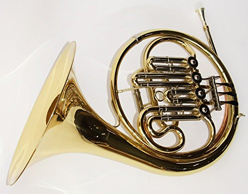 Cherrystone 0754235505013 French Horn Bb Waldhorn mit Stopfventil inklusive Koffer