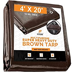 Xpose Safety Heavy Duty 16 Mil Brown Poly Tarp