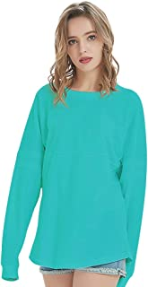 TOPTIE Women's Crewneck Pom Pom Pullover Jersey Youth Long Sleeve Baseball Tops