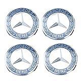 QQWD 4×75mm Coprimozzo Centro con Logo Tappi di Cerchioni Centro per Cerchio in Lega Coprimozzi di Ricambio per Mercedes Benz Ruota, Dark Blue