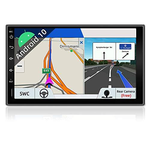JOYX Android 10.0 Autoradio Navegación Universal Estéreo Radio| Libre Cámara Trasera |2G RAM / 32G ROM | GPS 2 DIN | 7 Pulgadas | Apoyo Dab+ Carplay Split Screen Google WLAN Bluetooth Mirror-Link 4G