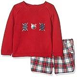 Mayoral 2207 Conj. Pantalon Corto Cuadros Jersey, Muerdago, 12M para Bebés