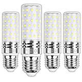 HZSANUE E27 Bombillas Maíz LED 15W, LED Bombillas Candelabros, 6000K Blanco Frío, 1500LM, Bombillas Incandescentes de 120W Equivalentes, No Regulable, Paquete de 4