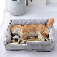 犬用低小屋オフ小さなペットカーミングラウンジチェア賞ジッパーとスライドのための犬のベッドと洗える、リムーバブルメディアメモリ泡のベッドは、プルーフ小さな大きな青い猫を湿気S47 * 35 * 20,グレー,L70 * 48 * 24