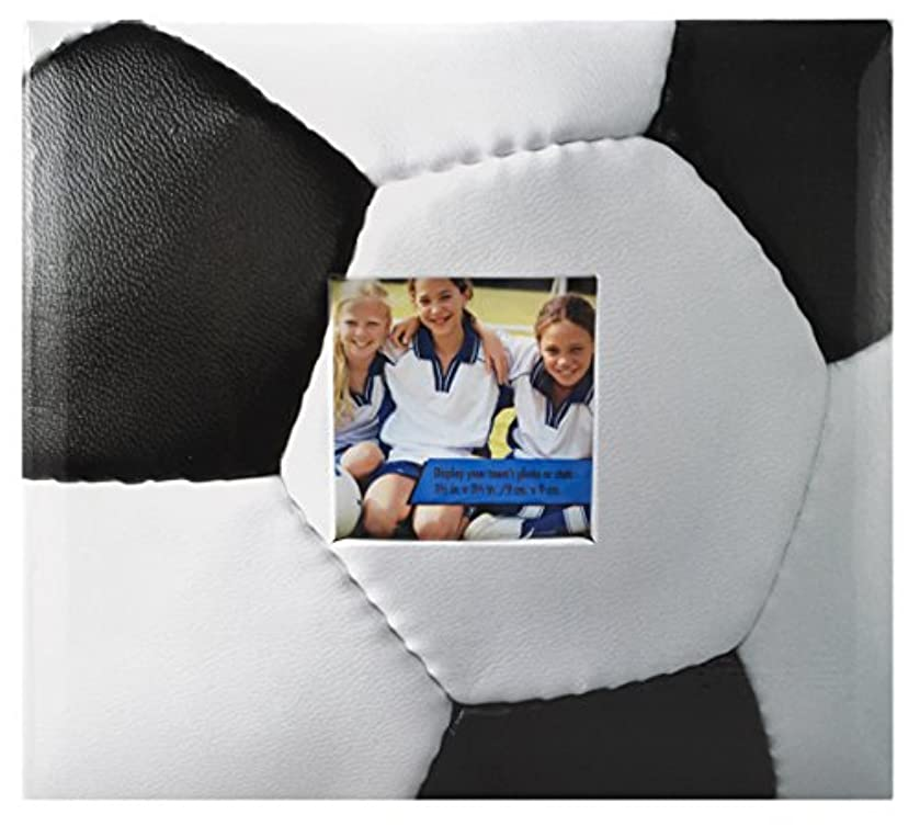 MCS MBI 9.6x8.5 Inch Soccer Theme Scrapbook Album with 8x8 Inch Pages with Photo Opening (865482)