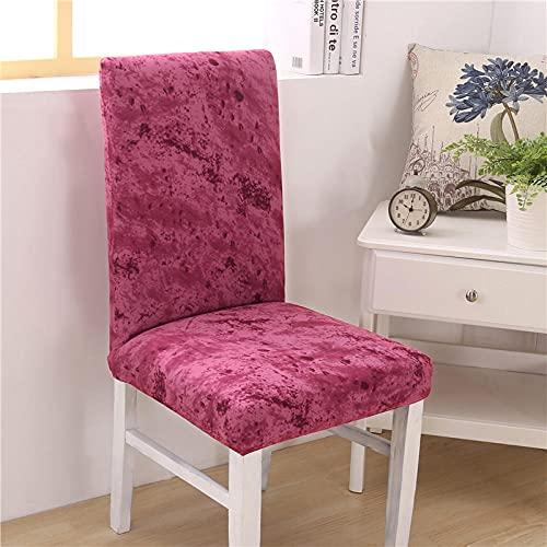 Fundas para sillas Rojo Spandex Fundas sillas Comedor Lavable Extraíble Funda Muy fácil de Limpiar Duradera Modern Bouquet de la Boda Hotel Decor Restaurante 4/Piezas