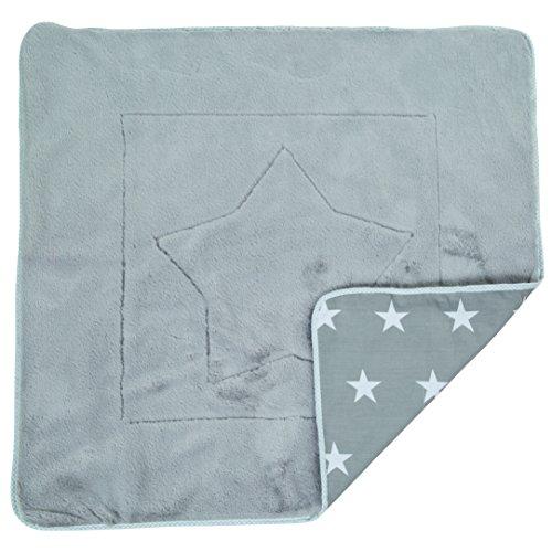 roba Babydecke 'Little Stars', Decke zum Kuscheln, Krabbeln & Spielen, 2 seitig, 2 Funktionen: 1x super weich, warm & flauschig, 1 x 100% Baumwolle