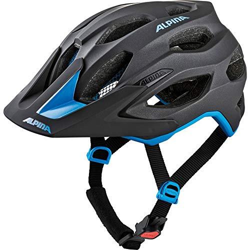 ALPINA Fahrradhelm Carapax 2.0 Gr.52-57cm schwarz blau ca 250g + Flicken