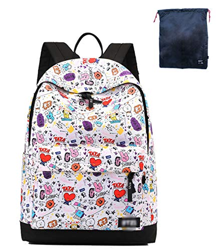 Timmor Korean Casual Comic Doll Backpack, Girl's Backpack, Teen Backpack, Junior High School Unisex School Bag. (comic)