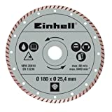 Einhell 4301176 disco de diamante Disco de diamante con borde turbo 18 cm - Discos de diamante (Disco de diamante con borde turbo, 2,54 cm, 18 cm, 310 g, 390 g, 1 pieza(s))