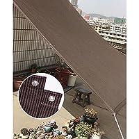 ブラウンシェードネット、庭/植物保護ネット、テラス/温室シェードセイル、日焼け止めシェードクロス、屋外断熱シェードネットカバー, 4x5m(13*16ft)