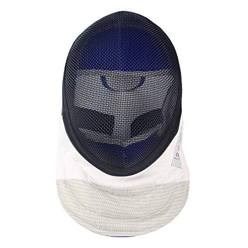 LEONARK Fencing Foil Mask Helmet CE 350N Quick Detachable Certified National Grade Masque - Fencing Protective Gear (Detachable Black, M)
