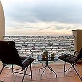 qmj Pantalla para balcón Resistente a la Intemperie ventilado Duradero Mamparas de balcón Cubierta Protectora de Seguridad para Jardín,60 X 1000CM