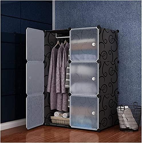Armario portátil Organizador de Armario ABS Combinación de plástico Cubo Memoria Closet Muebles Ropa Organizador Dormitorio Mobiliario (Color: Gris)