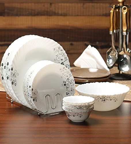 Diva Mystrio Black 19 Pcs Dinner Set