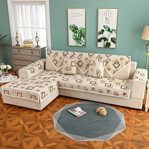 BASA Tuin meubelhoes, bank kussen, eenvoudige stof, antislip, eenvoudige stofdichte bescherming meubels 70*210cm Koffie Kleur