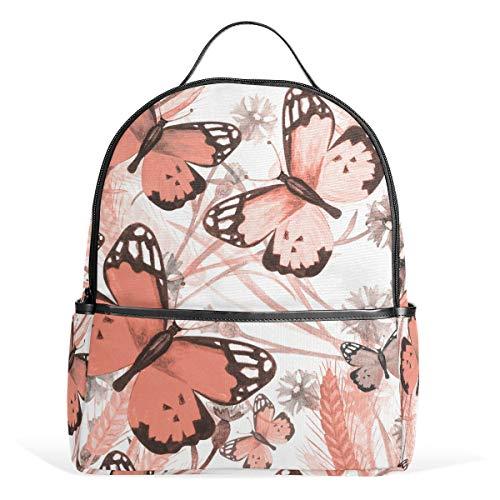 Mr.XZY Mochila de mariposa acuarela para niño para niña bolso mochila 2011633