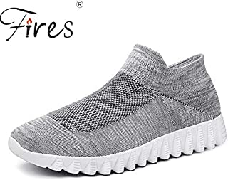 BEESCLOVER Men Sport Shoes High Quality Run Sneakers Mesh Breathable Outdoor Walking Shoes Black Gray Male Jogging Shoes Zapatillas