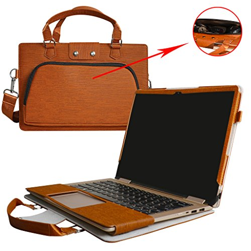 Yoga 720 13 Case,2 in 1 Accurately Designed Protective PU Leather Cover + Portable Carrying Bag for 13.3