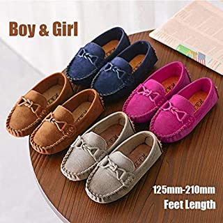 Kids Casual Shoes Children Loafers Girls&Boys Boat Shoes Single Shoes(Red,26)