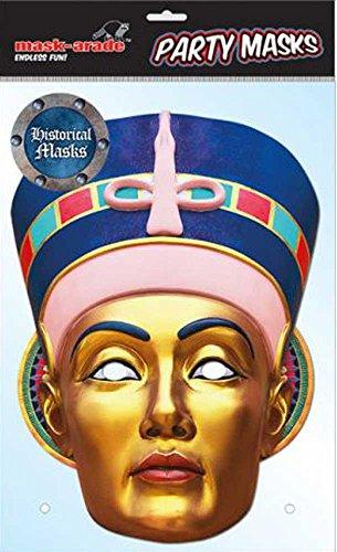 Empire Interactive Masque en Carton Historical egiptian Queen, en Carton avec Trous pour Les Yeux, Bande élastique – 30 x 21 cm