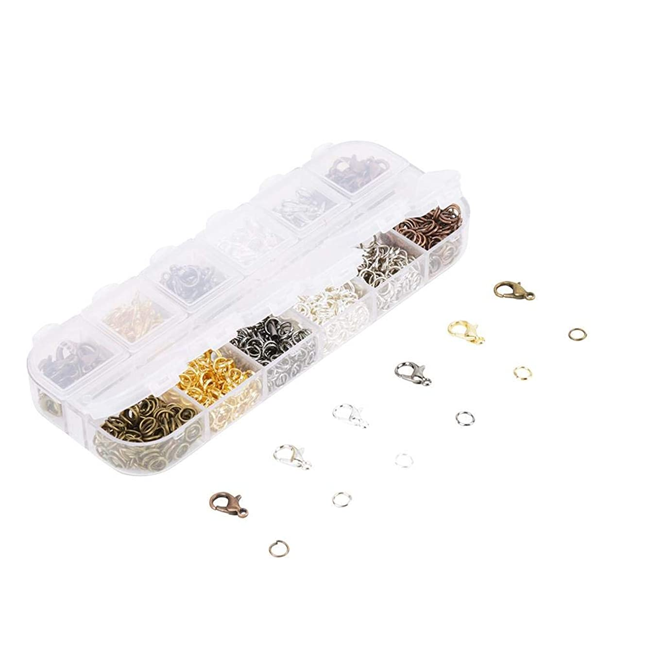 Lobster Clasp Hooks 6 Colors Jewelry Findings Kit DIY Accessories for Jewelry Making Necklace Bracelet Chain
