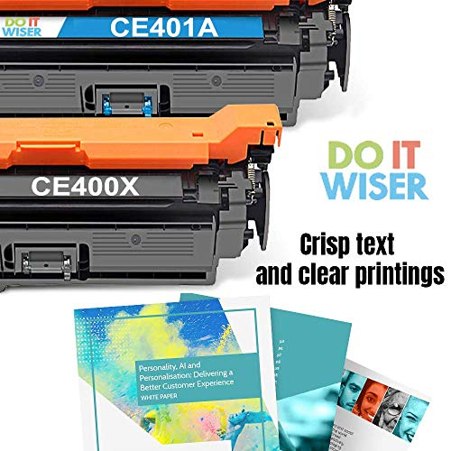 Do it Wiser Remanufactured Toner Cartridge Replacement for HP 507X HP 507A CE401A HP LaserJet Enterprise M551n M551dn M551xh M570dw M570dn M575c M575dn M575f (Cyan) Photo #4
