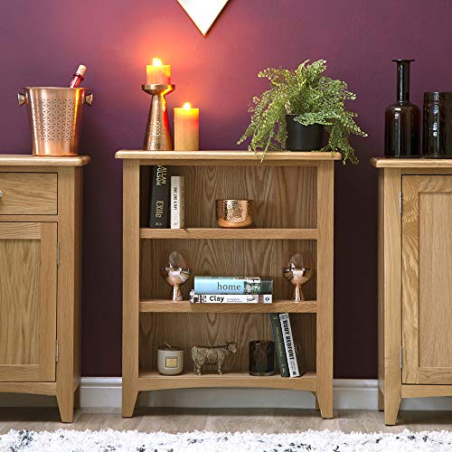 The Furniture Outlet Gloucester Oak Small Wide Bookcase