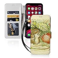 いちごを食 mouse iPhone11 ケース iPhone 11 Pro ケース iPhone 11 Pro max ケース 手帳型 財布型 カード収納 スタンド機能 マグネット式 スマホケース 高級PU レザー 耐衝撃 全面保護カバー