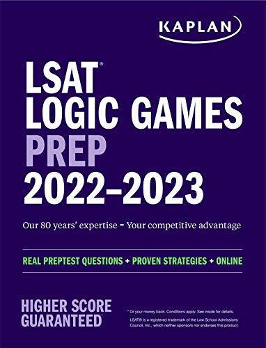 LSAT Logic Games Prep 2022-2023 (Kaplan Test Prep)