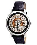 Ancient Mayan Astrology Zodiac Collectible 40 mm Hispanic Art Wrist Watch