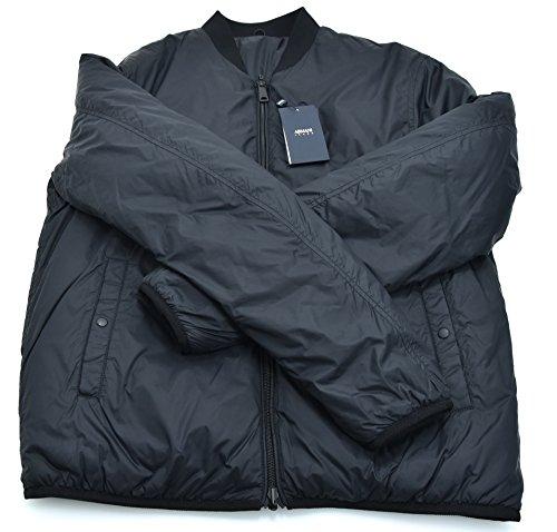 Armani Jeans Herren Wendejacke, gepolstert, Schwarz oder Blau, Code 6Y6B78 46 EU – XS USA Nero – Schwarz