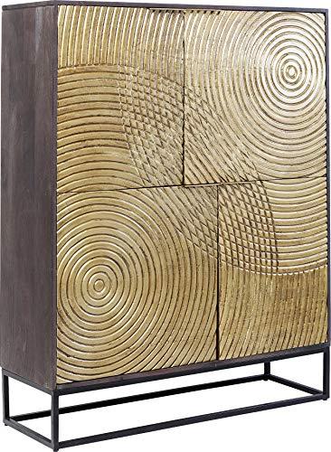 Preisvergleich Produktbild Kare Design Schrank Circulo,  Massivholz Schrank,  verzierter,  glamuröser Schrank für Esszimmer oder Wohnzimmer,  kunstvoller Schrank,  (H / B / T) 150x120x40