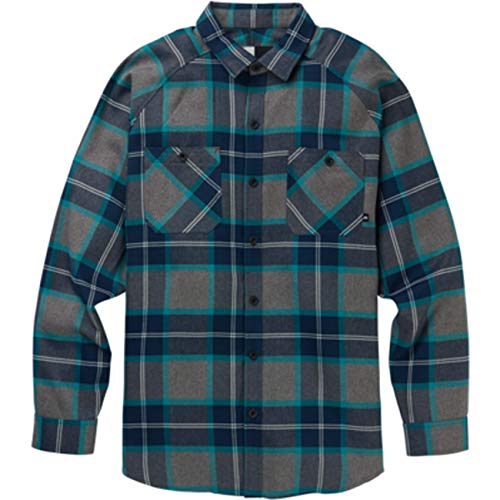 Burton Herren Hemd AG TRNSMSN FLNL, Größe:S, Farben:Green-Blue Mind PLD