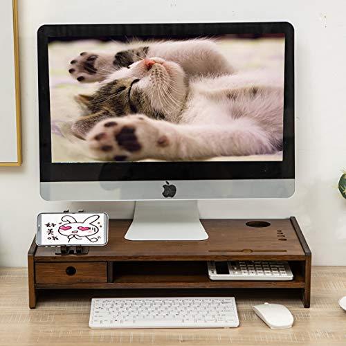 ASDSDF Laptop-Zoll-Schreibtischregal, Computer-Monitorständer mit Schubladen, Schreibtisch-Lagerregal für Heim und Büro, Mobile Elephant Mobile Game Stand