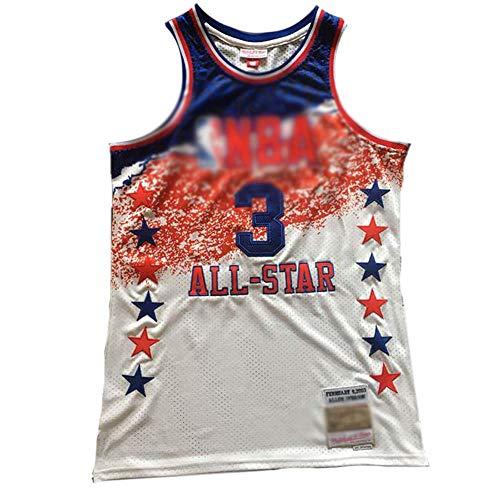 CHSC 76ers #3 Allen Ezail Iverson Fan Basketball-Trikot, Mesh-Unterhemd, Präzisions-Stickerei, All-Star Gedenkversion, Tops für Herren und Jungen, Sportgeschenk Gr. XL, a