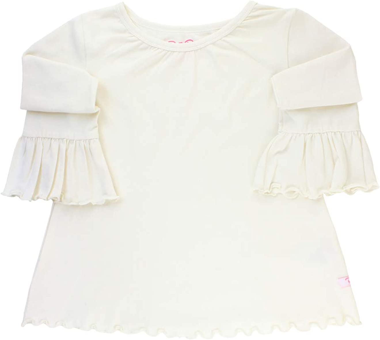 RuffleButts Baby/Toddler Girls Ruffled Knit Top w/Bell Sleeve