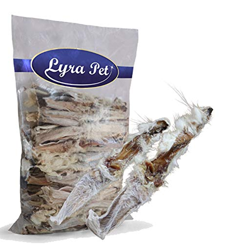 Lyra Pet® 15 kg Kaninchenohren 15000 g mit Fell Kauartikel Hase Hasenohren Hundefutter