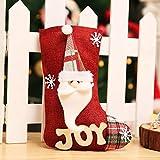 SANMAO Bolsas de Bolsas de Dulces Medias de Navidad Decorado Nº Decorativo Lino Manzanas Calcetines Bolsas,Stocks de losas de Lona Viejos