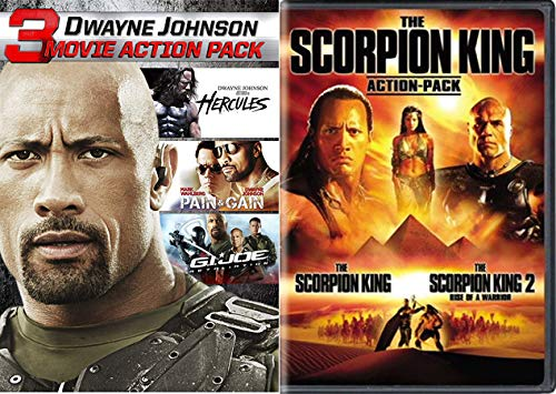 You Smell What the... Big Man, Big Movies: 5 Movie Marathon- Hercules/ Pain & Gain/ G.I. Joe Retaliation + The Scorpion King Double Feature (1+2) DVD Bundle