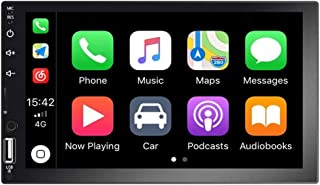 Autoradio Indash Car Stereo Double Din 7 Inch HD Touch Screen Radio Bluetooth FM with USB/AUX-in/RCA/Rear View Camera Inpu... photo