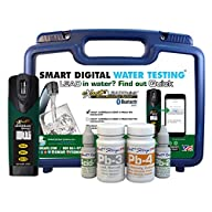 Industrial Test Systems 486900-BT-W Leadquick W/BT Photometer Lead & Mercury Test Kit Contents in front of Container